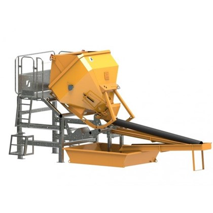 Image of Concrete Skip Washing Platform - 2
